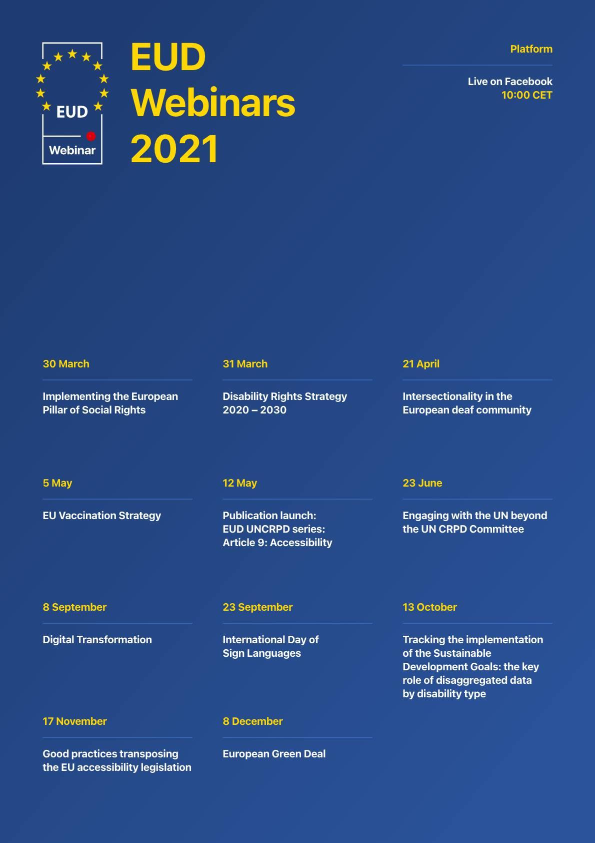 EUD Webinars 2021