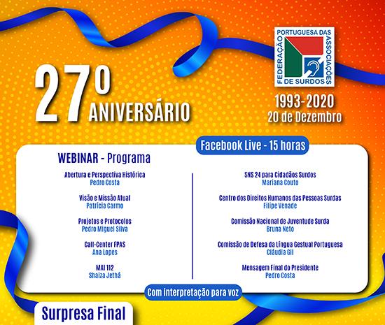 27º Aniversário da FPAS