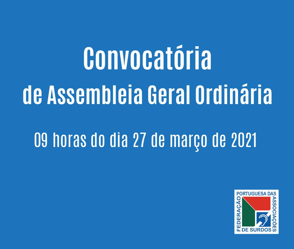 Convocatória de Assembleia Geral Ordinária da FPAS (27-03-2021)